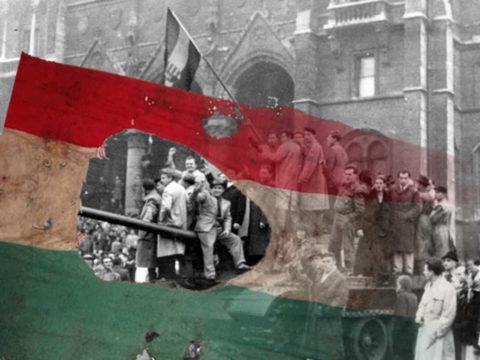 1956 forradalom zászló