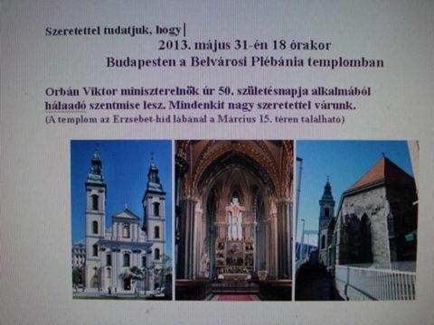 orban viktor halaado szentmise 2013