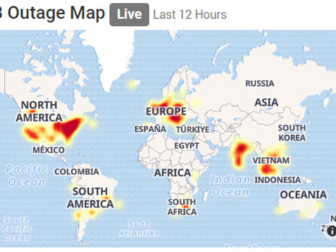 facebook outage map world